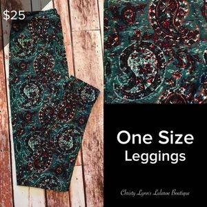 Lularoe One Size os Leggings Paisley